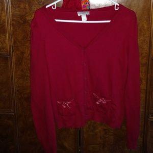 Ann Taylor LOFT Long Sleeve Red Sweater
